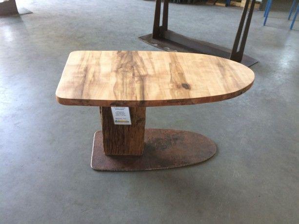 Design Tischfuß aus Cortenstahl