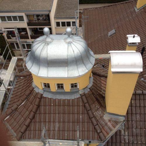 Titan Zink Kuppel und Kaminhüte - Zwiebelkuppel